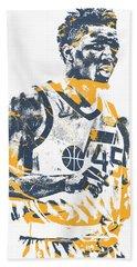 Donovan Mitchell Utah Jazz Pixel Art 11 Beach Towel