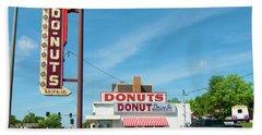 Donut Drive In Beach Towel