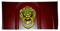 Door Knocker Beach Towel