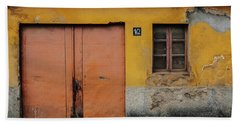 Beach Sheet featuring the photograph Door No 162 by Marco Oliveira