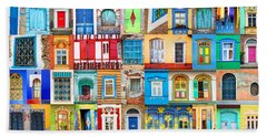 Doors And Windows Of The World Beach Towel