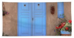 Doors, Peppers And Flowers. Beach Towel