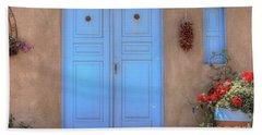 Doors, Peppers And Flowers. Beach Towel