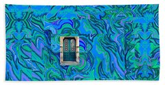 Doorway Into Multi-layers Of Water Art Collage Beach Towel