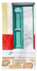 Doorway To Mykonos - Prints Of Original Oil Painting Beach Towel