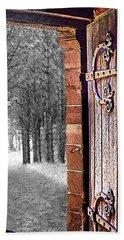 Doorway To Hadrian's Wood Beach Towel