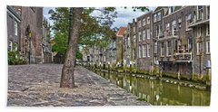 Dordrecht Behind The Church Beach Towel by Frans Blok