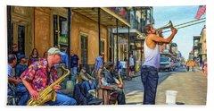 Doreen's Jazz New Orleans - Paint Beach Towel