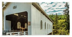 Dorena Covered Bridge Beach Towel