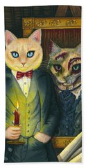 Beach Towel featuring the painting Dorian Gray by Carrie Hawks
