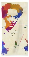Dorothy Dandridge Watercolor Beach Towel