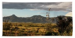 Dos Cabezas Grasslands At Dusk Beach Towel