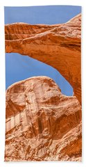 Double Arch At Arches National Park Beach Sheet by Sue Smith