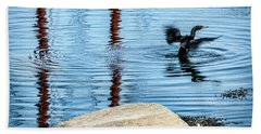 Beach Sheet featuring the photograph Double-crested Cormorant by Daniel Hebard