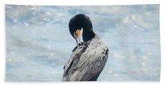 Double-crested Cormorant   Beach Towel