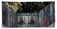 Beach Towel featuring the photograph Double Custer by Steve Sperry