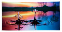 Double Liquid Art Beach Towel