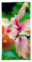 Double Peach Hibiscus Two Beach Towel