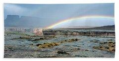 Double Rainbow Beach Towel