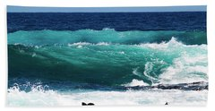 Double Waves Beach Towel