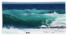 Double Waves Beach Towel