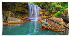 Douglas Falls 2 Beach Towel