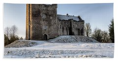 Doune Castle In Central Scotland Beach Towel