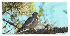 Dove In Pine Tree Beach Towel