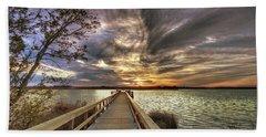 Down By The River Beach Sheet by Phil Mancuso