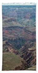 Beach Towel featuring the photograph Down Into The Canyon by Kirt Tisdale