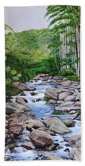 Down Stream  Beach Towel by Marilyn McNish