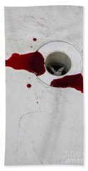Down The Drain Beach Towel