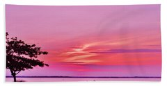 Summer Sunset At The Shore Beach Towel