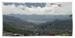 Down The Valley At Snowmass Beach Towel by Jerry Battle