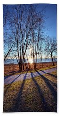 Beach Towel featuring the photograph Down This Way We Meander by Phil Koch