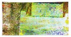 Beach Sheet featuring the mixed media Down by Tony Rubino