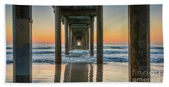 Down Under Scripp's Pier  Beach Towel