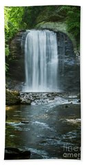 Beach Towel featuring the photograph Downstream Shade Looking Glass Falls Great Smoky Mountains Art by Reid Callaway