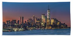 Downtown And Freedom Tower Beach Towel