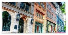Downtown Asheville City Street Scene II Painted Beach Sheet