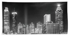 Downtown Atlanta Skyline Beach Sheet