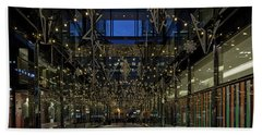 Downtown Christmas Decorations - Washington Beach Towel