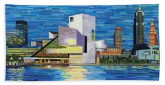 Downtown Cleveland Skyline  Beach Towel