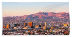Downtown El Paso Sunrise Beach Towel
