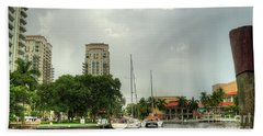downtown Ft Lauderdale waterfront Beach Towel