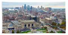 Downtown Kansas City From Liberty Memorial Tower Beach Towel