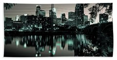 Downtown Minneapolis At Night II Beach Towel