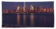 Downtown Nyc At Sunset Beach Towel