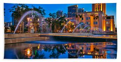 Downtown San Diego Waterfront Park Beach Towel