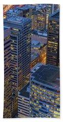 Downtown Seattle Buildings Details Beach Towel